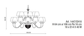 1447/CH18 Chandeliers Contemporary