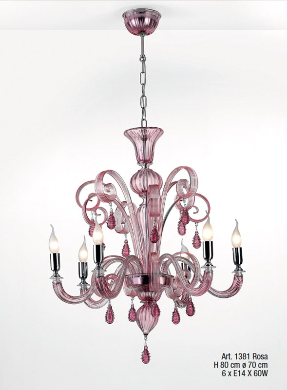 1381 Rosa - Prompt delivery Chandeliers Classic