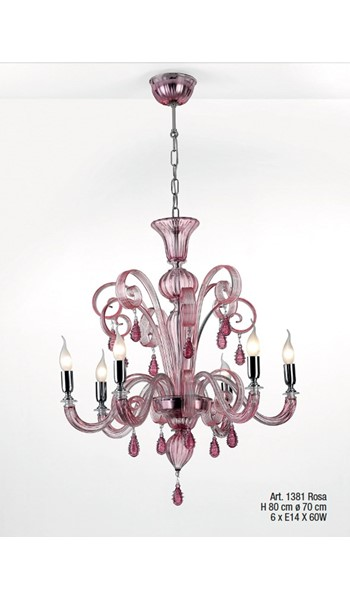 1381 Rosa Chandeliers Classic