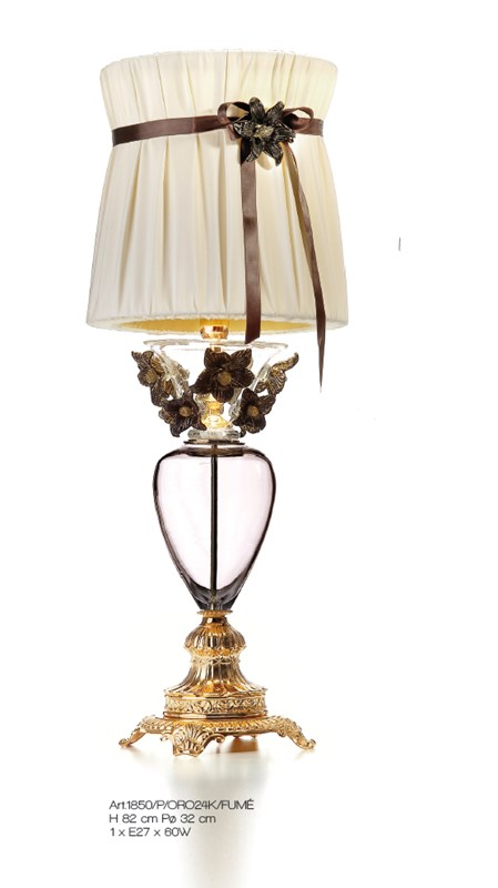 1850/P/ORO24K/FUME' Table Lamps Classic