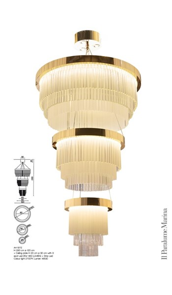 1972/LU Chandeliers Contemporary