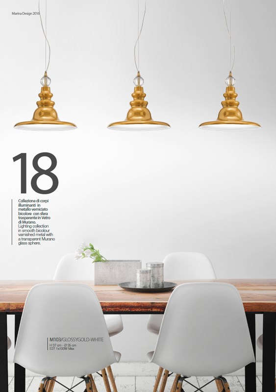 M103/GLOSSYGOLD-BI Chandeliers Contemporary