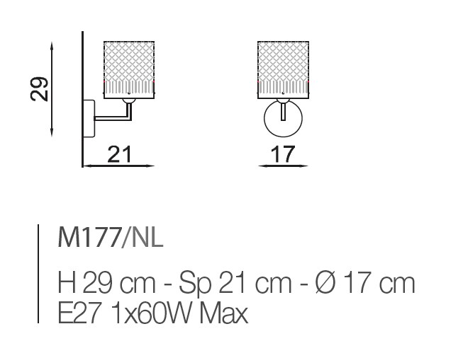 M177 Wall Lamps Contemporary