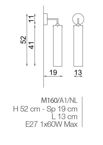 M160/A1 Wall Lamps Contemporary