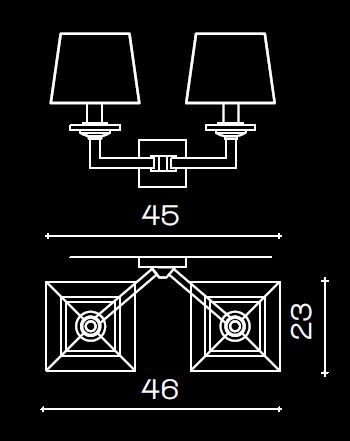 1214/A2 Wall Lamps Contemporary