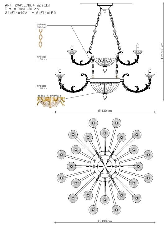 2045/CH24 Chandeliers Classic