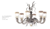 1770/CH6/FUME'/KR  Chandeliers Contemporary