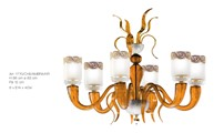 1770/CH6/AMBRA/KR  Chandeliers Contemporary