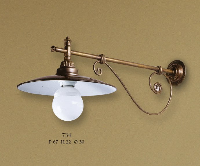 734 Wall Lamps Rustic