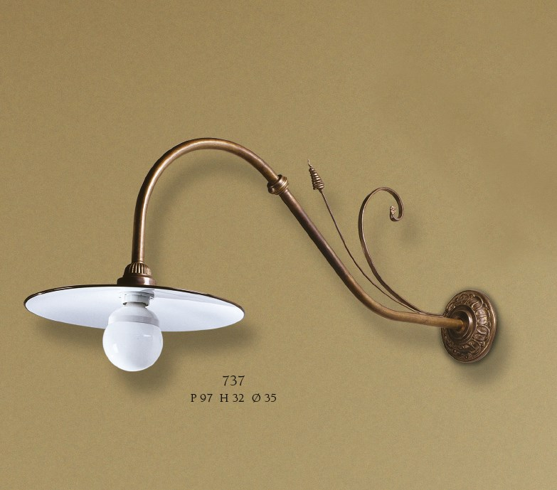 737 Wall Lamps Rustic
